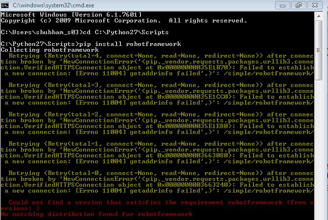 Error while installing robotframework · Issue #4723 · pypa
