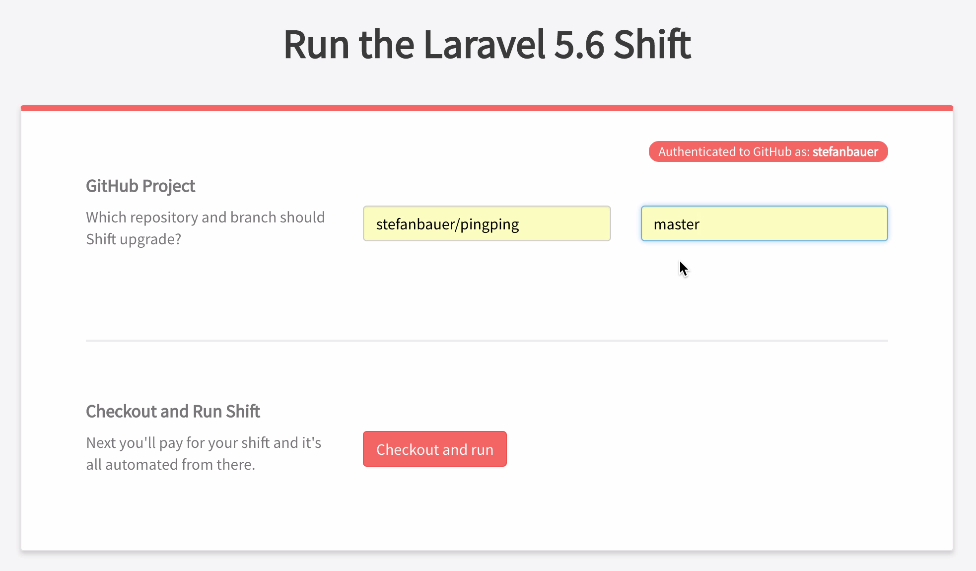 Laravel Shift repository details