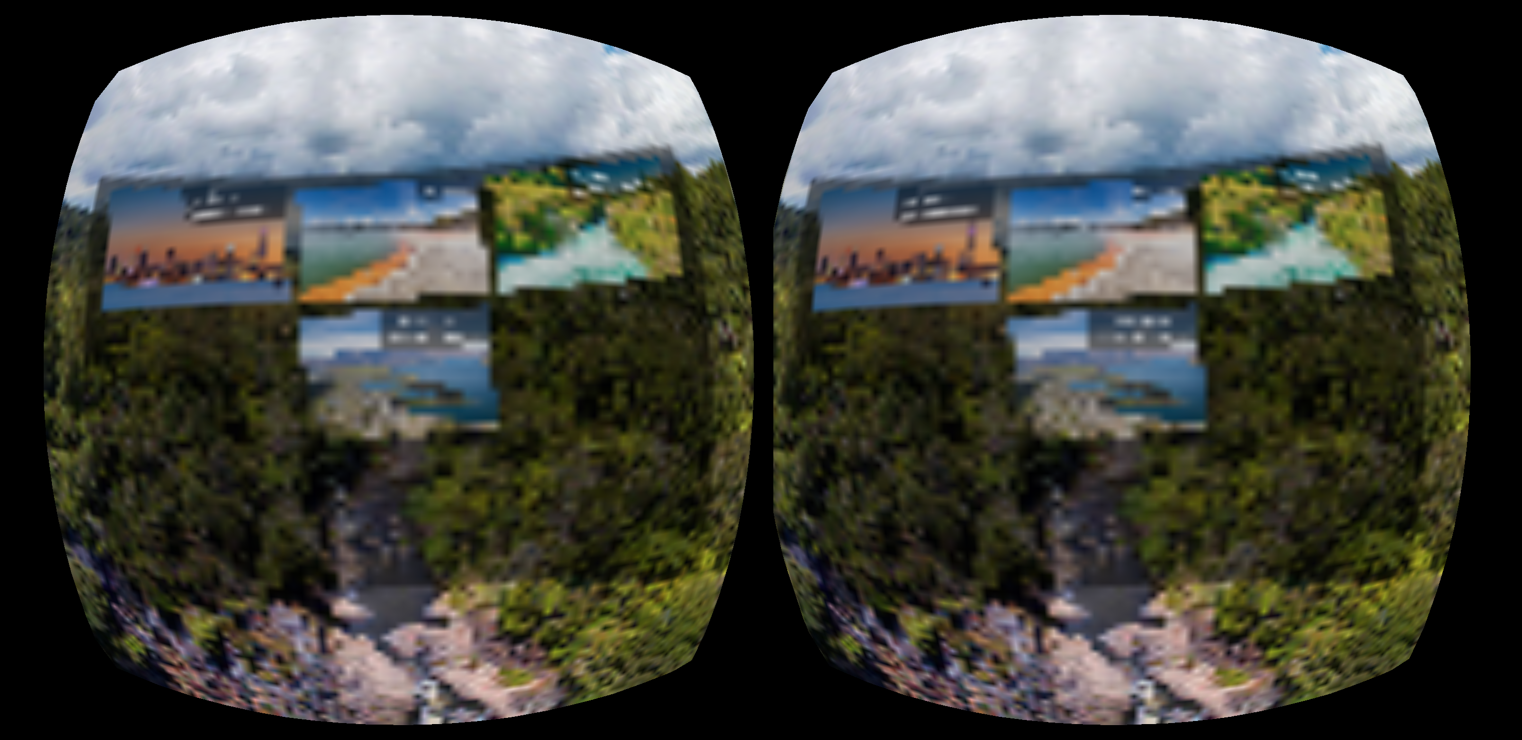 Display heavily pixelated image in VR Mode on Oculus Browser · Issue