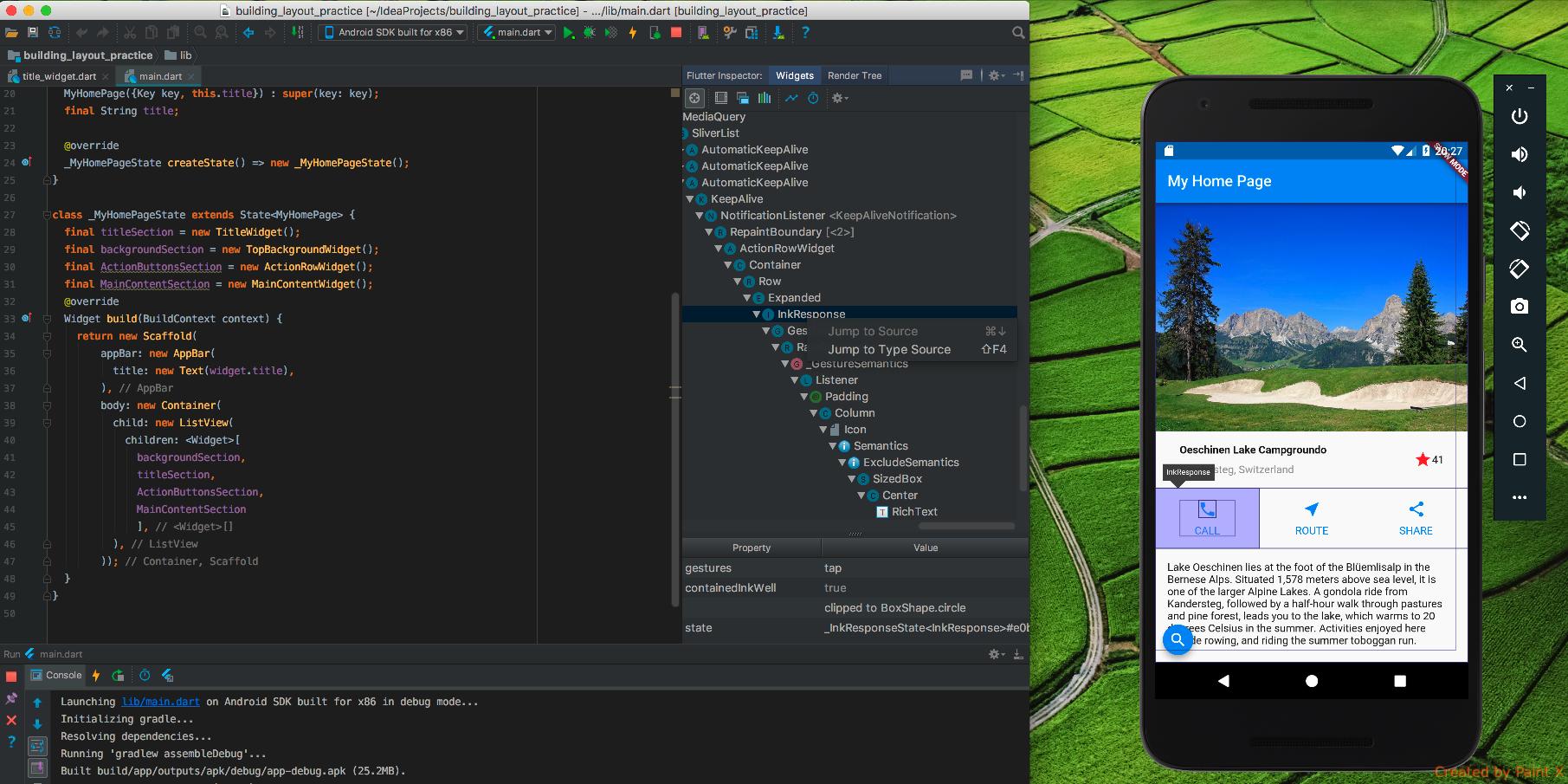 inspect element android studio emulator