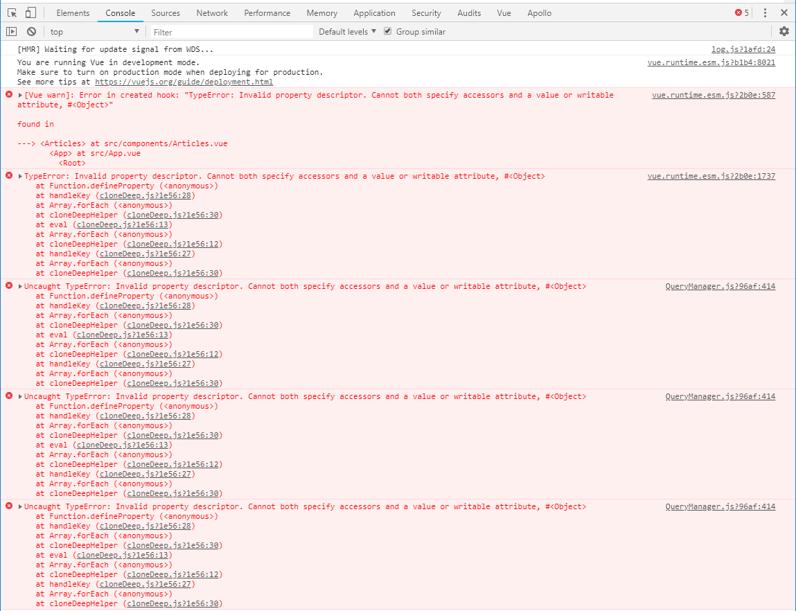 Client 2 4 3 errors out when executing a query with a hot cache