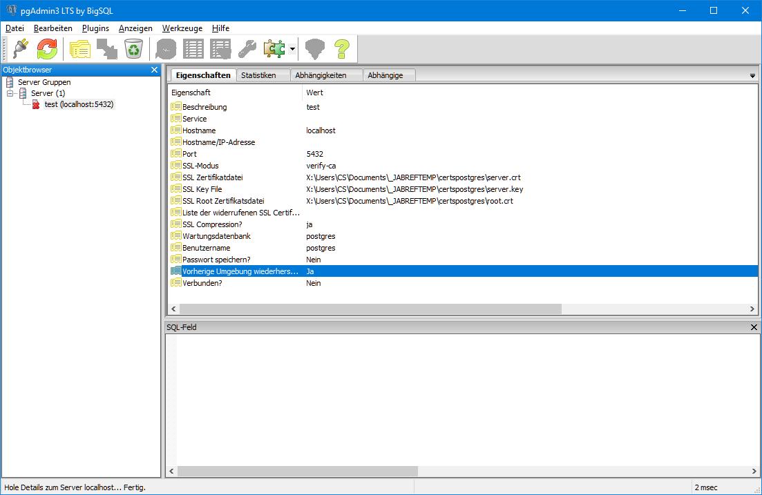 Working with PostgreSQL database is unusably slow · Issue