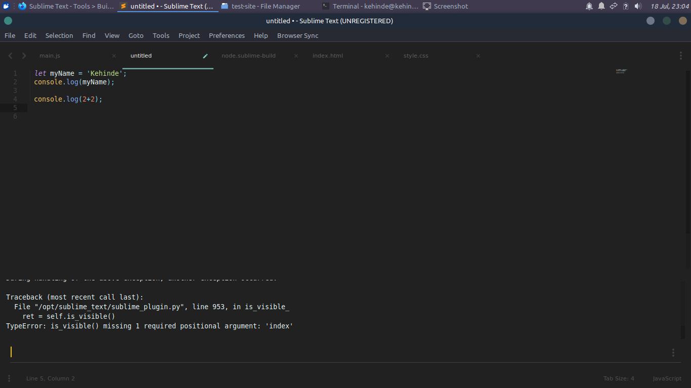 node error
