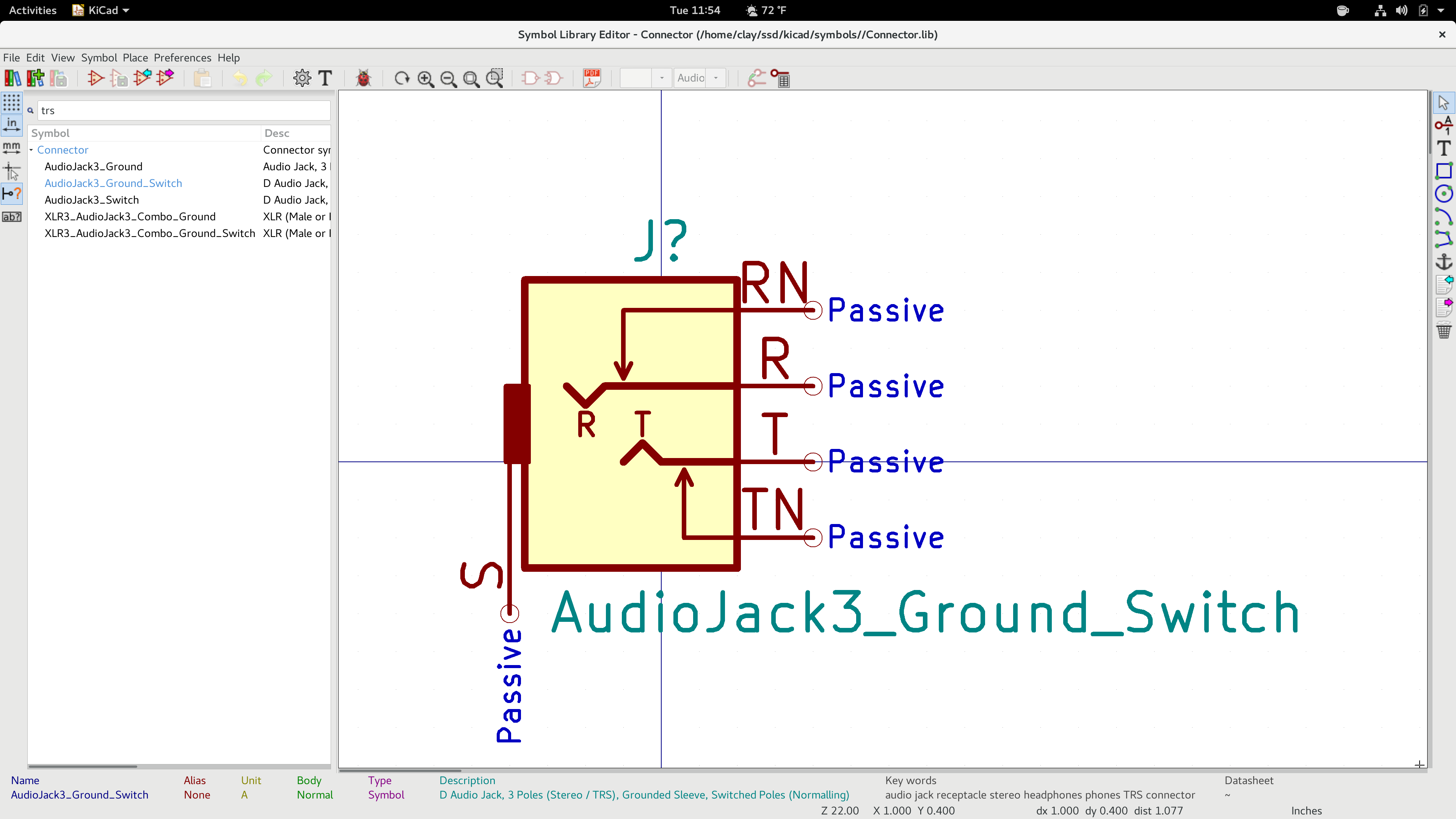 Inconsistency In Audiojackswitch Symbols Issue 635 Kicadkicad