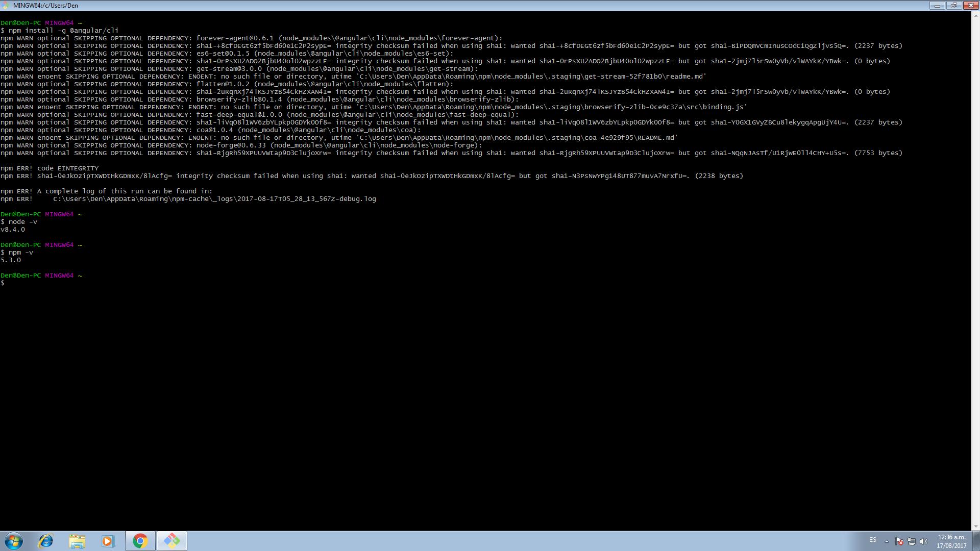 Error installing angular cli · Issue 10 · angular/angular cli ...