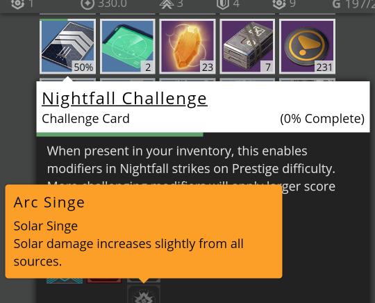 Nightfall challenge cards show 100% · Issue #2675