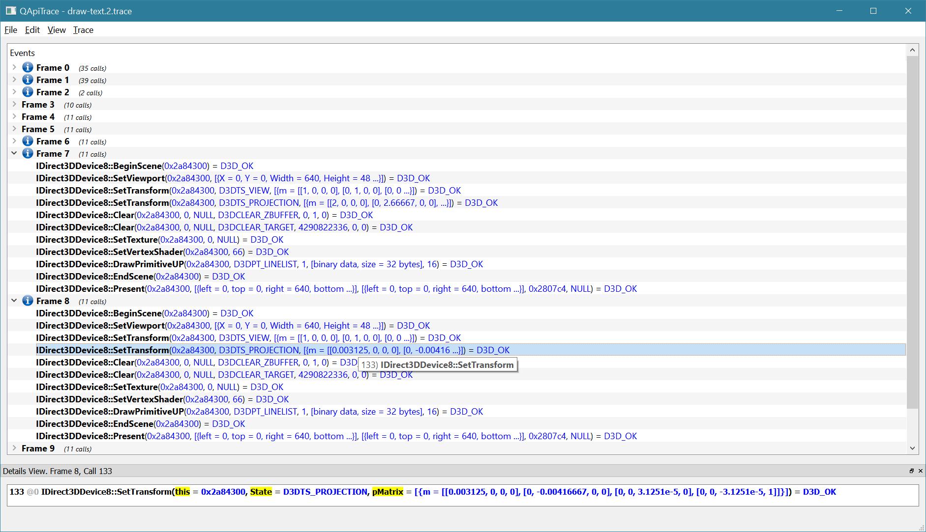 GM8 API Trace