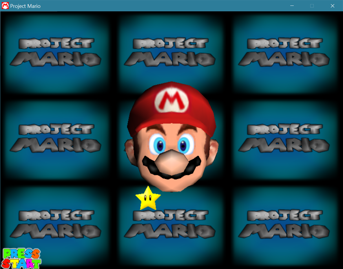 Project Mario Perspective Start Screen