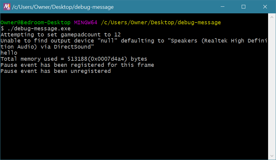 GMSv1.4 Extracted Exe Debug Messages
