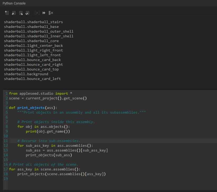 Python Console Closeup