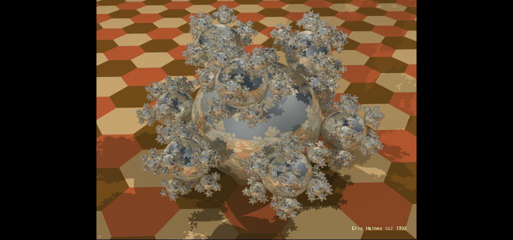 Original Sphereflake Rendering by Eric Haines