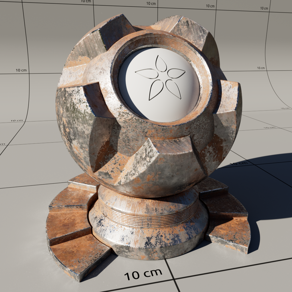 Shaderball with Substance Material
