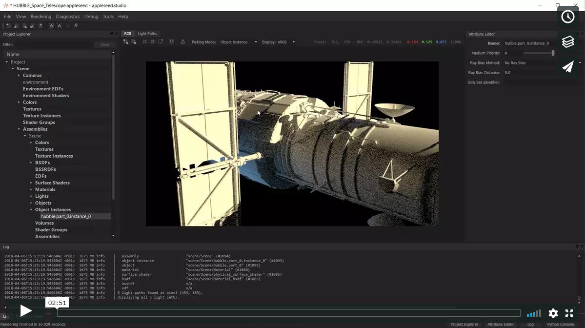 Light paths demo video