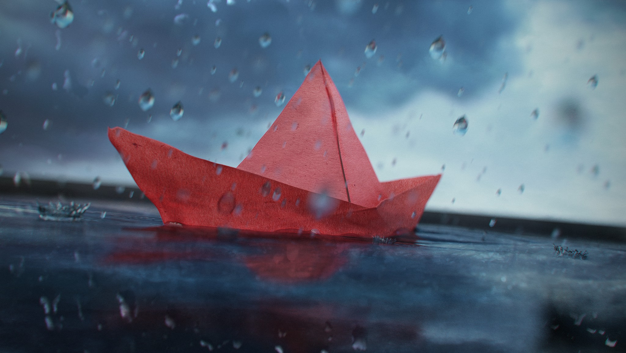 Red Paper Boat by [Giuseppe Lucido](https://zaldor.artstation.com/)