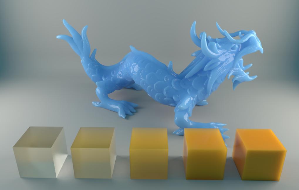 Stanford Dragon, render by Artem Bishev