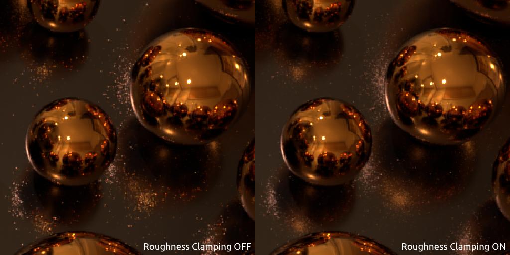 Spheres scene close-up