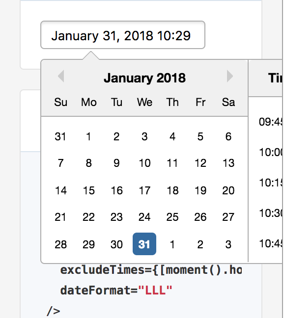 I want to change the position of the calendar · Issue #1246