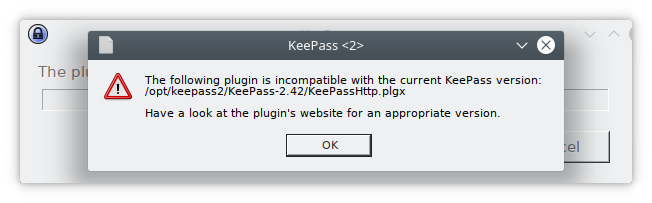 Incompatible with KeePass-2 42 · Issue #384 · pfn