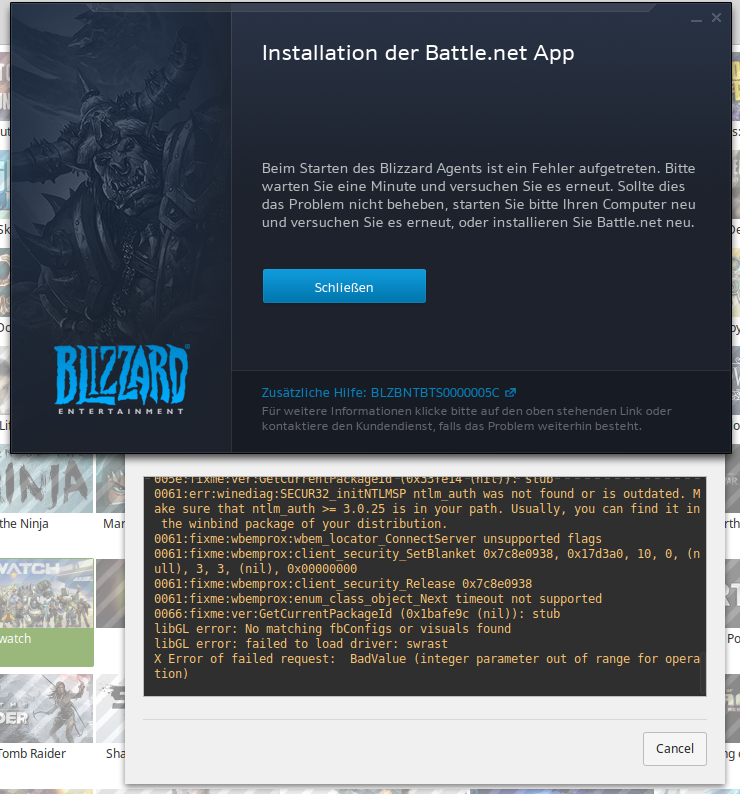 No file provided' after installing battle net · Issue #1844