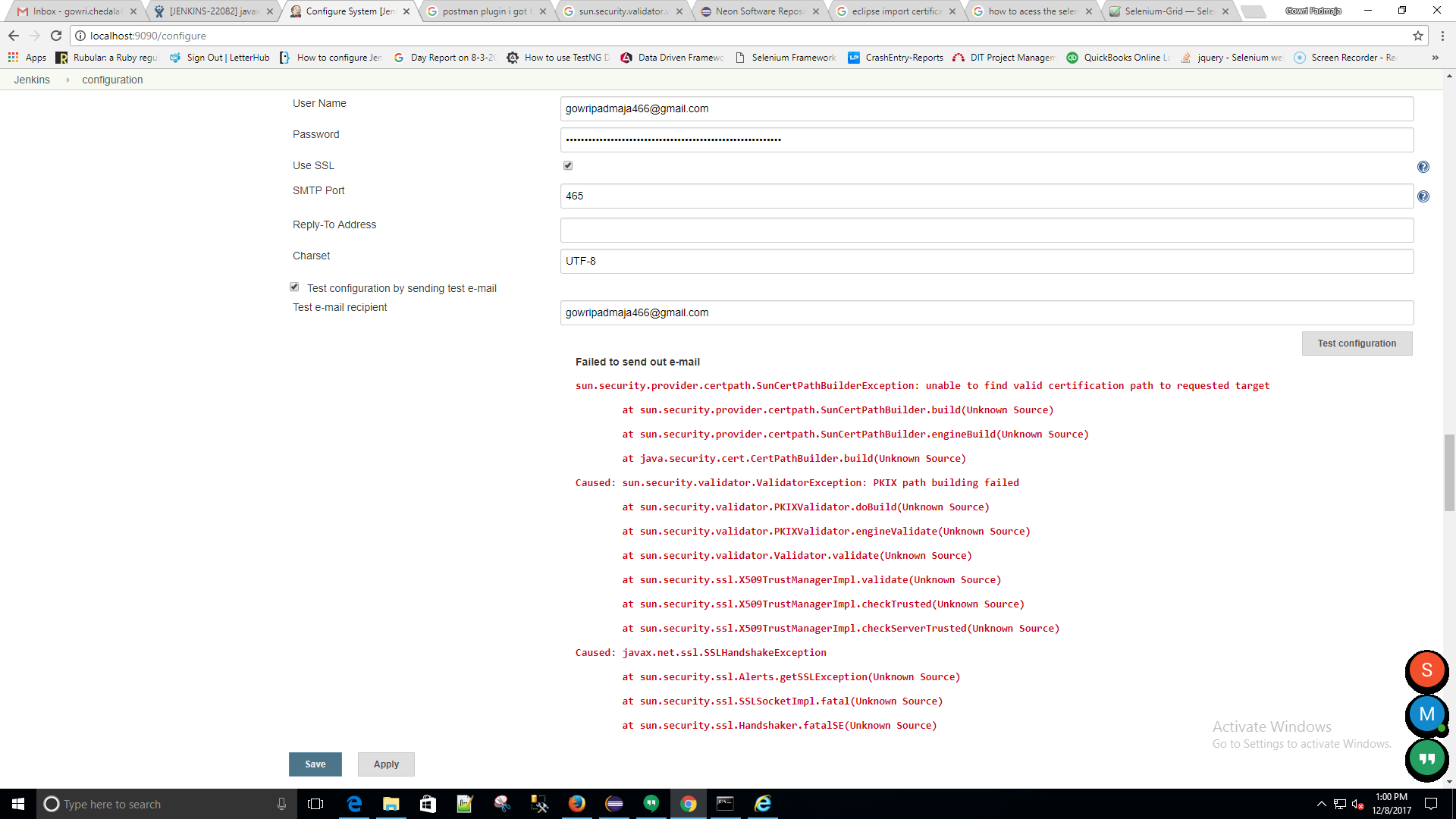 Pkix path building failed suncurityovidercertpath when sending test mails in jenkins we are facing the same issuencurityovidercertpathncertpathbuilderexception can any one help me out on this 1betcityfo Gallery