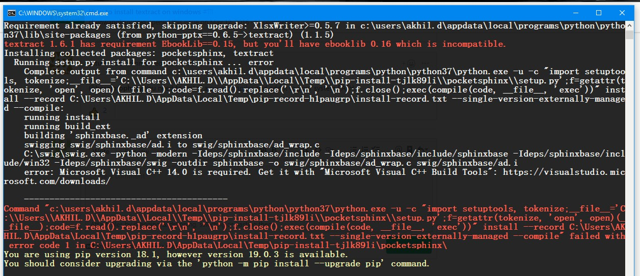How to install textract on windows · Issue #111