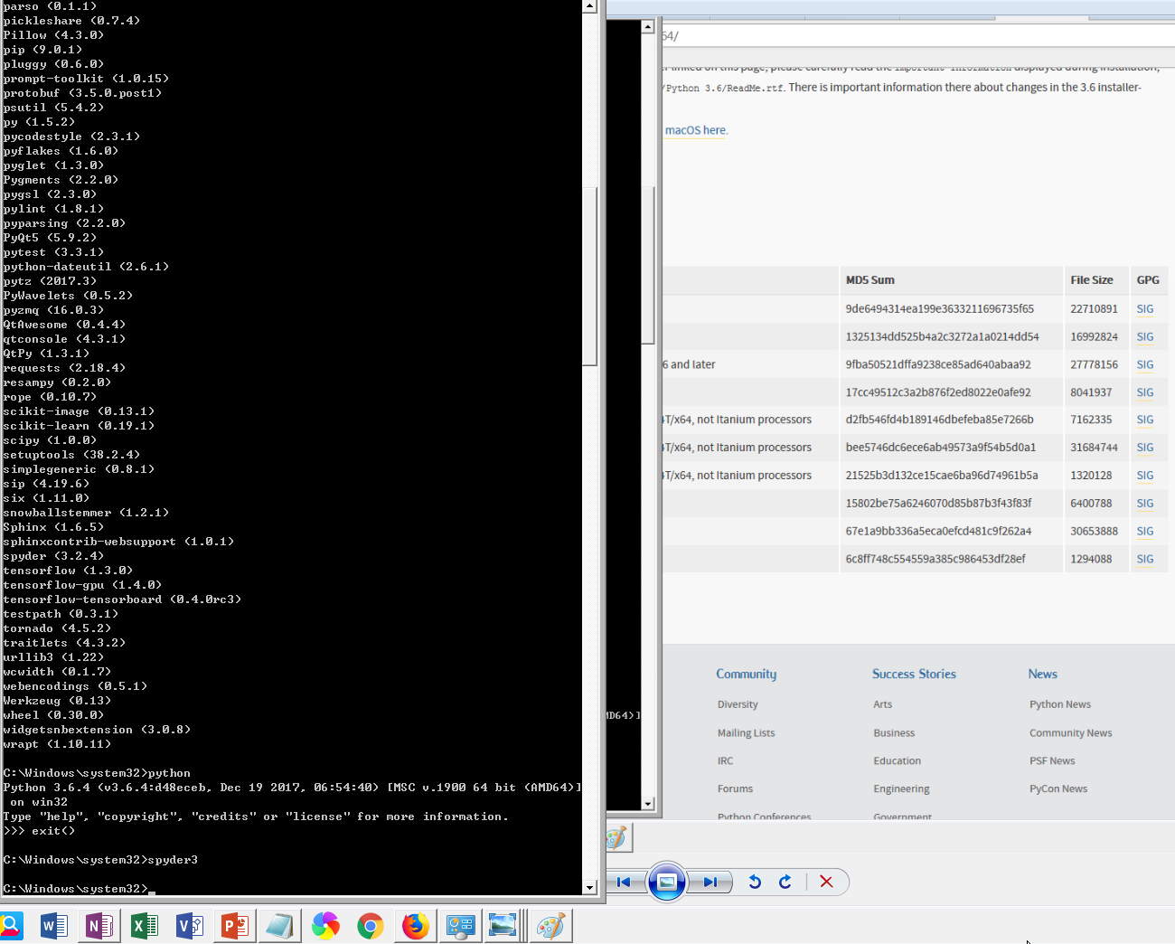 Can't lauch the spyder3, under the win10+python3 6 with pip