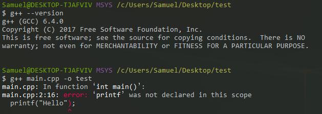Can't compile with g++ through cmd::cmder · Issue #1655 · cmderdev