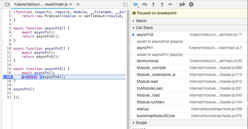 Node 10 missing async frame · Issue #21157 · nodejs/node · GitHub