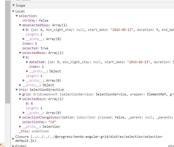 Grid Selection · Issue #634 · telerik/kendo-angular · GitHub