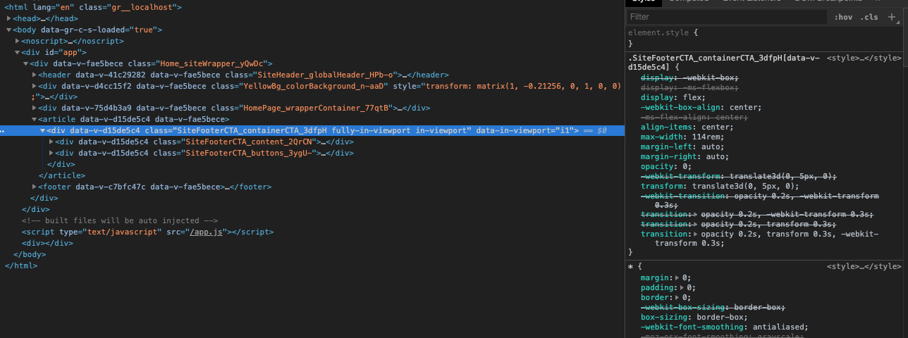 Class binding not working with CSS Modules · Issue #6