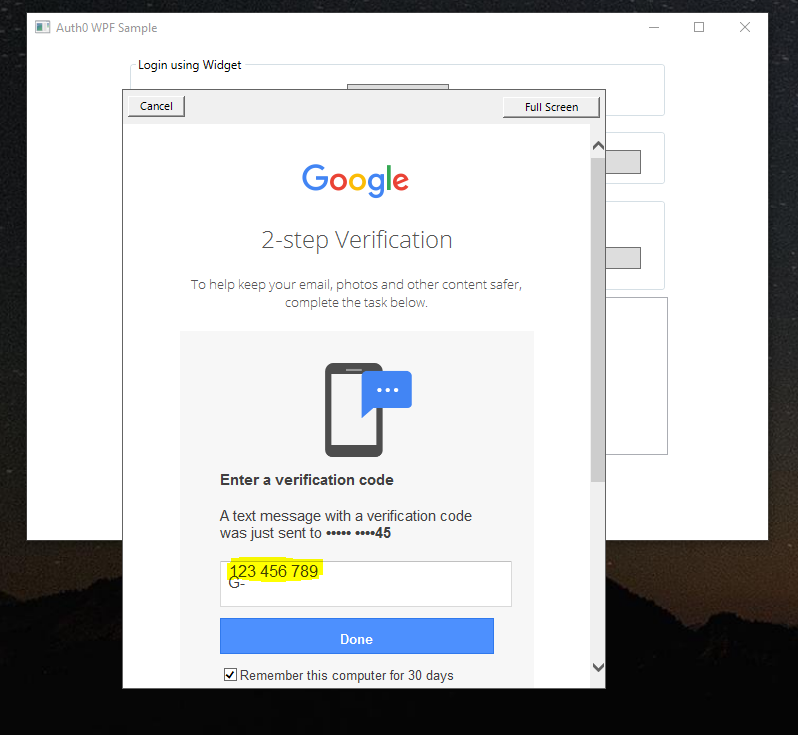 Poor input box layout for 'Enter a verification code' using