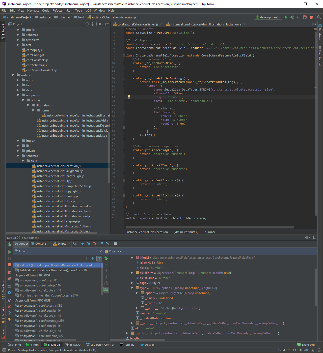 Developers - sequelize does not work with webstorm autocomplete