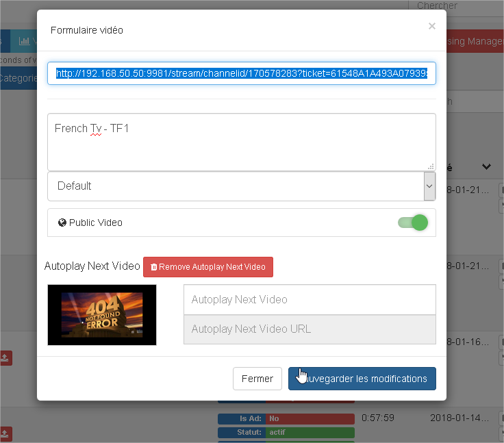 TvHeadend Connector - Show live TV on youPHPTube :) · Issue #301