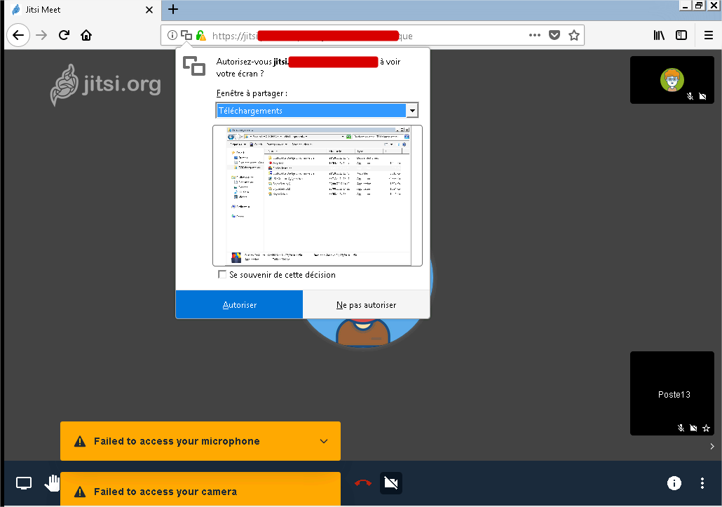 No desktop Sharing with last firefox version · Issue #2892
