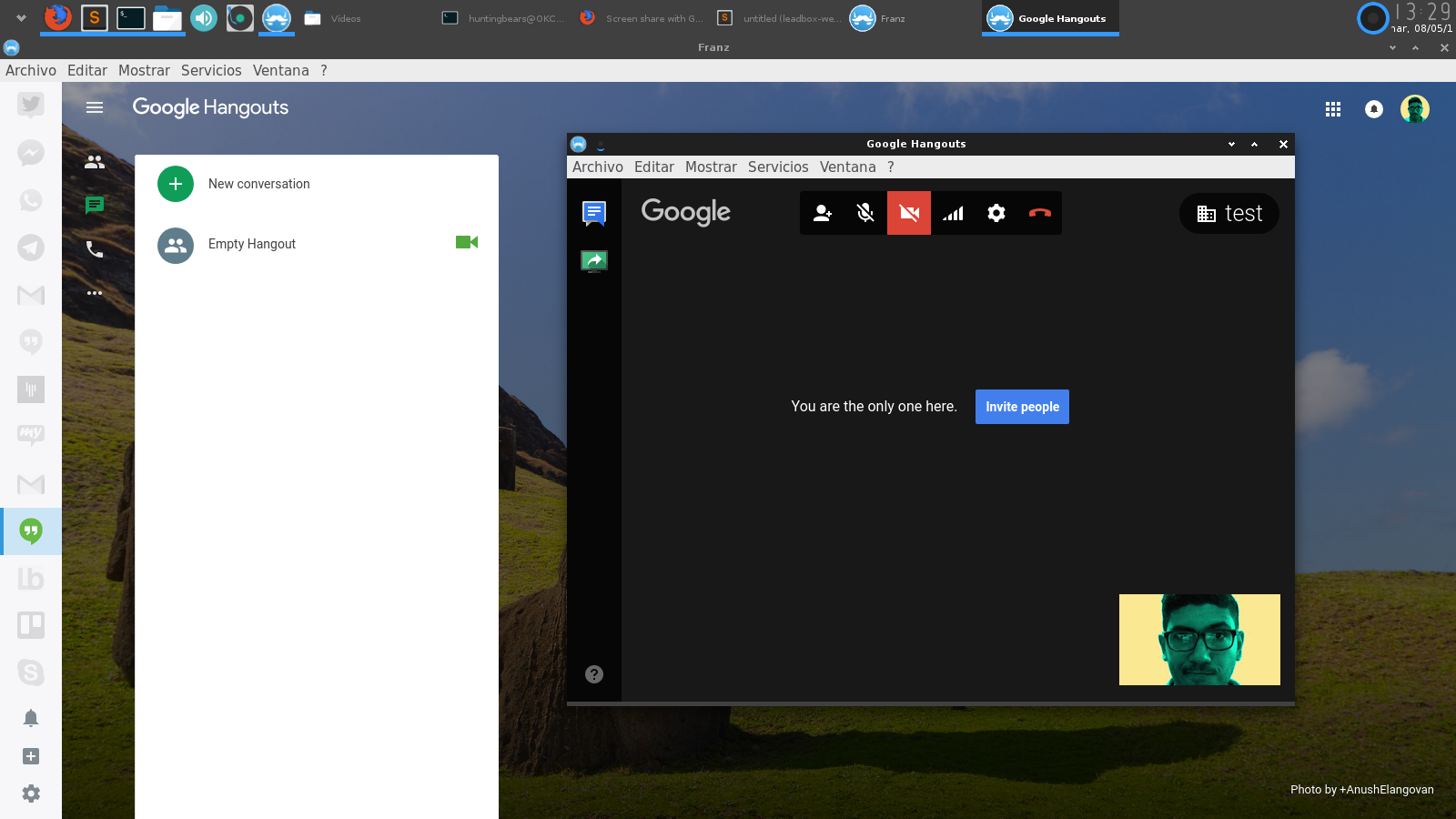 Screen share on Google Hangouts doesn't work · Issue #955