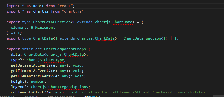 Developers - Namespace ''chart js'' has no exported member