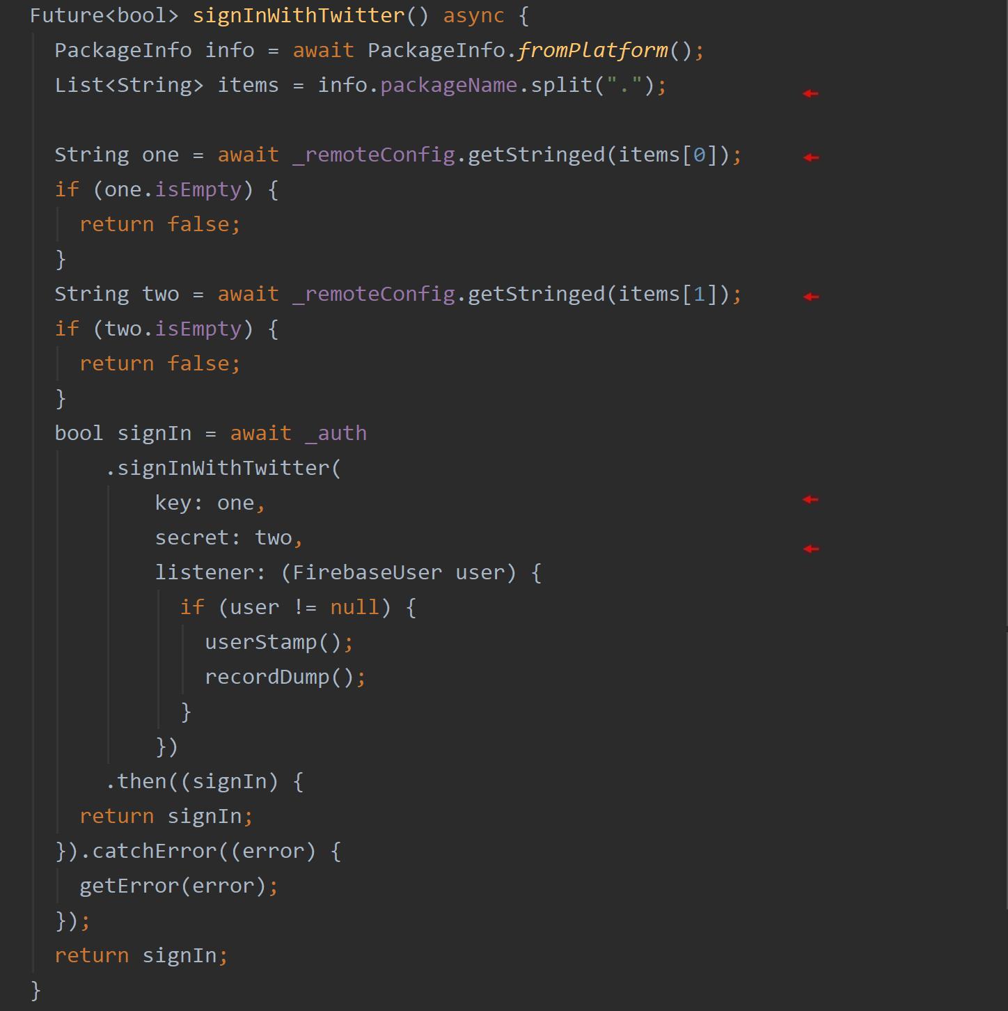 RemoteConfig Example