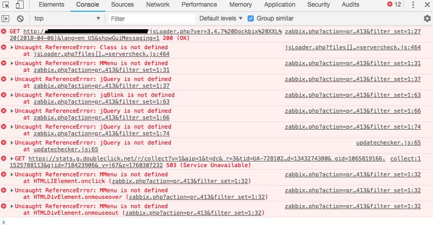 jQuery is not defined · Issue #111 · monitoringartist/dockbix-xxl