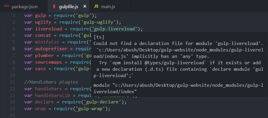 Unexpected [ts] errors in JavaScript files · Issue #54261
