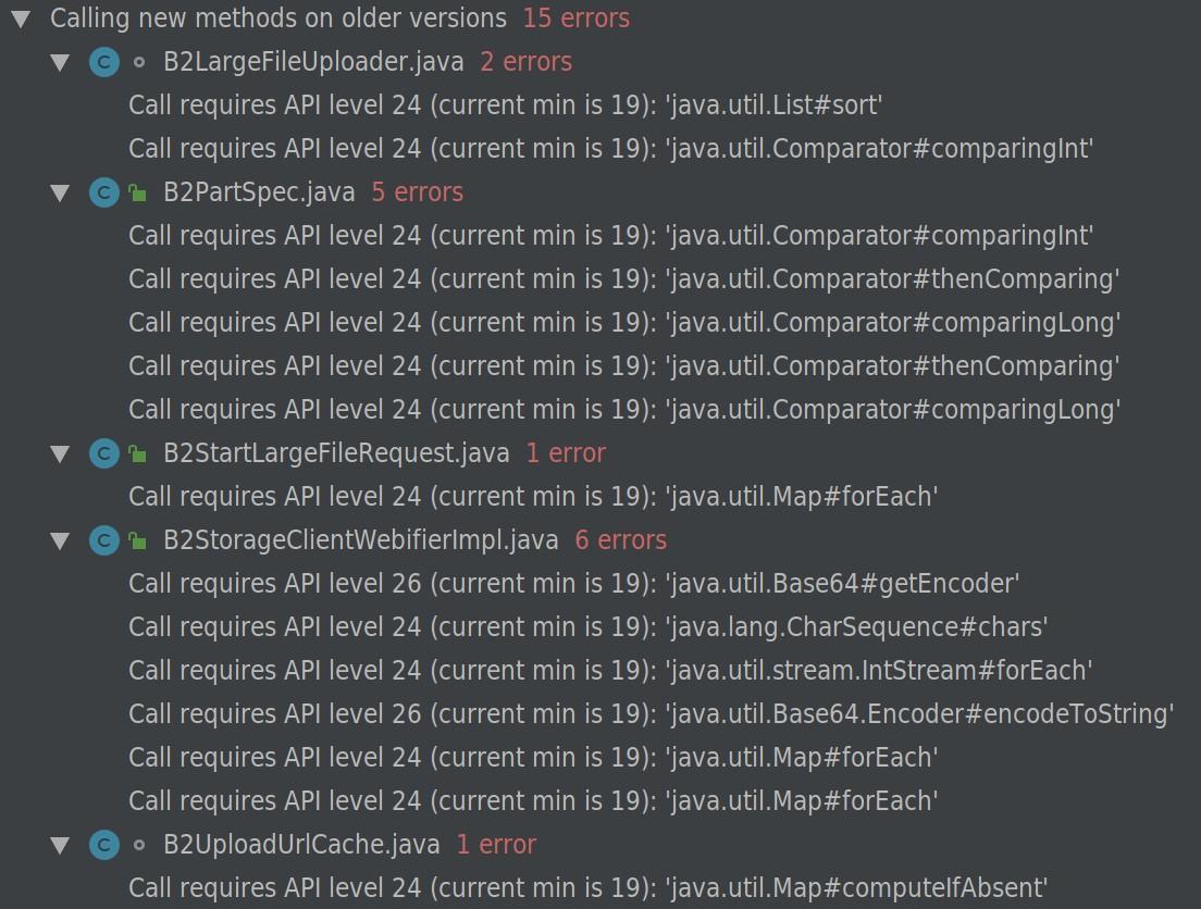 Android compatibility · Issue #75 · Backblaze/b2-sdk-java