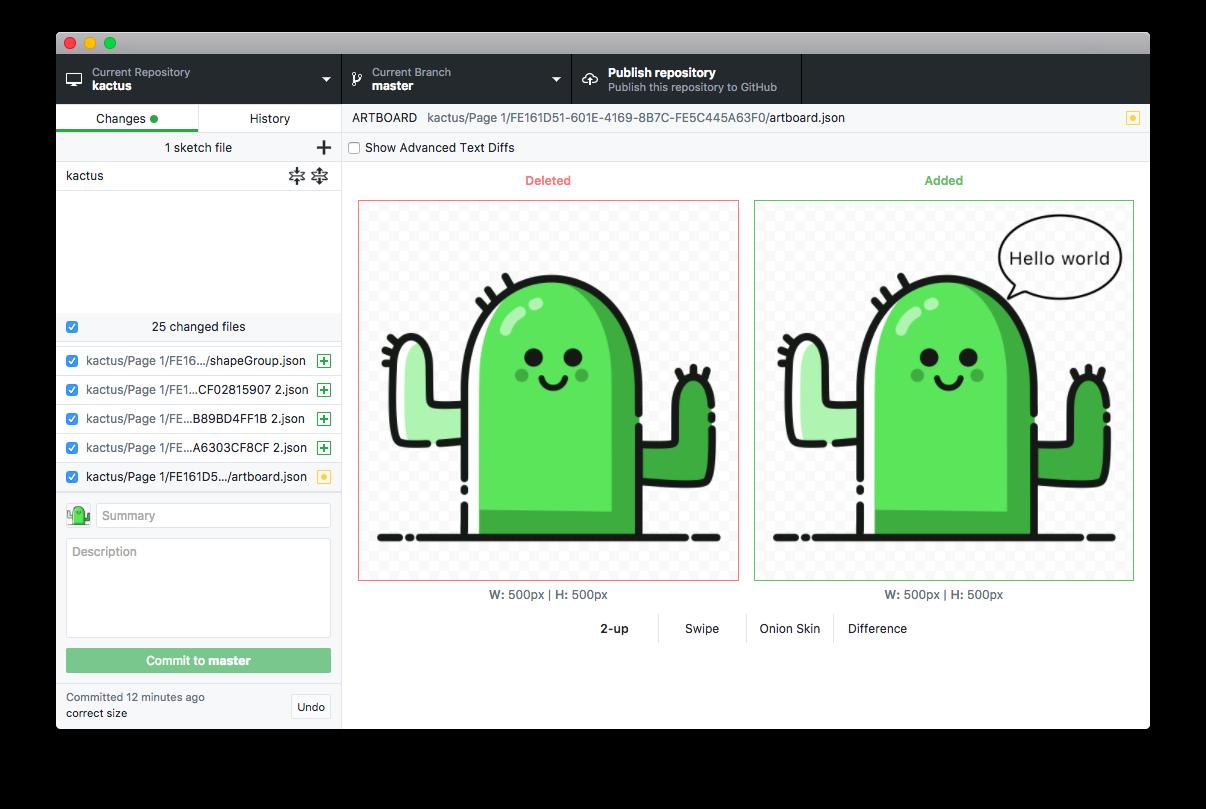 Kactus screenshot - macOS