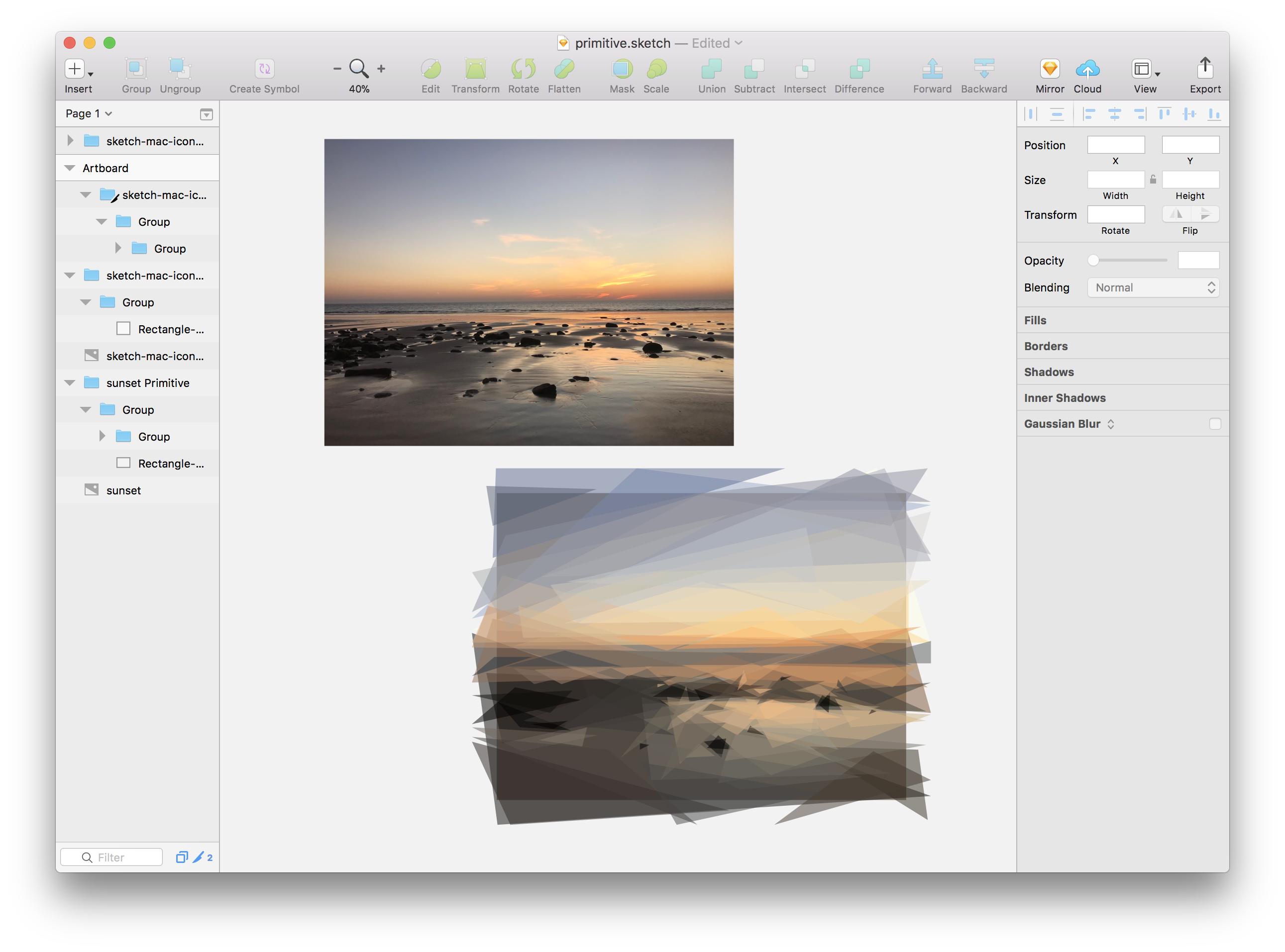 Github Mathieudutour Sketch Primitive Reproducing Images With Geometric Primitives In Sketch