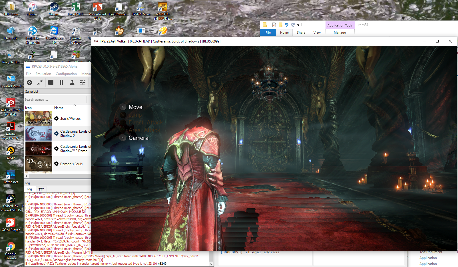 Analog Axis not working: Castlevania Lords of Shadow 2