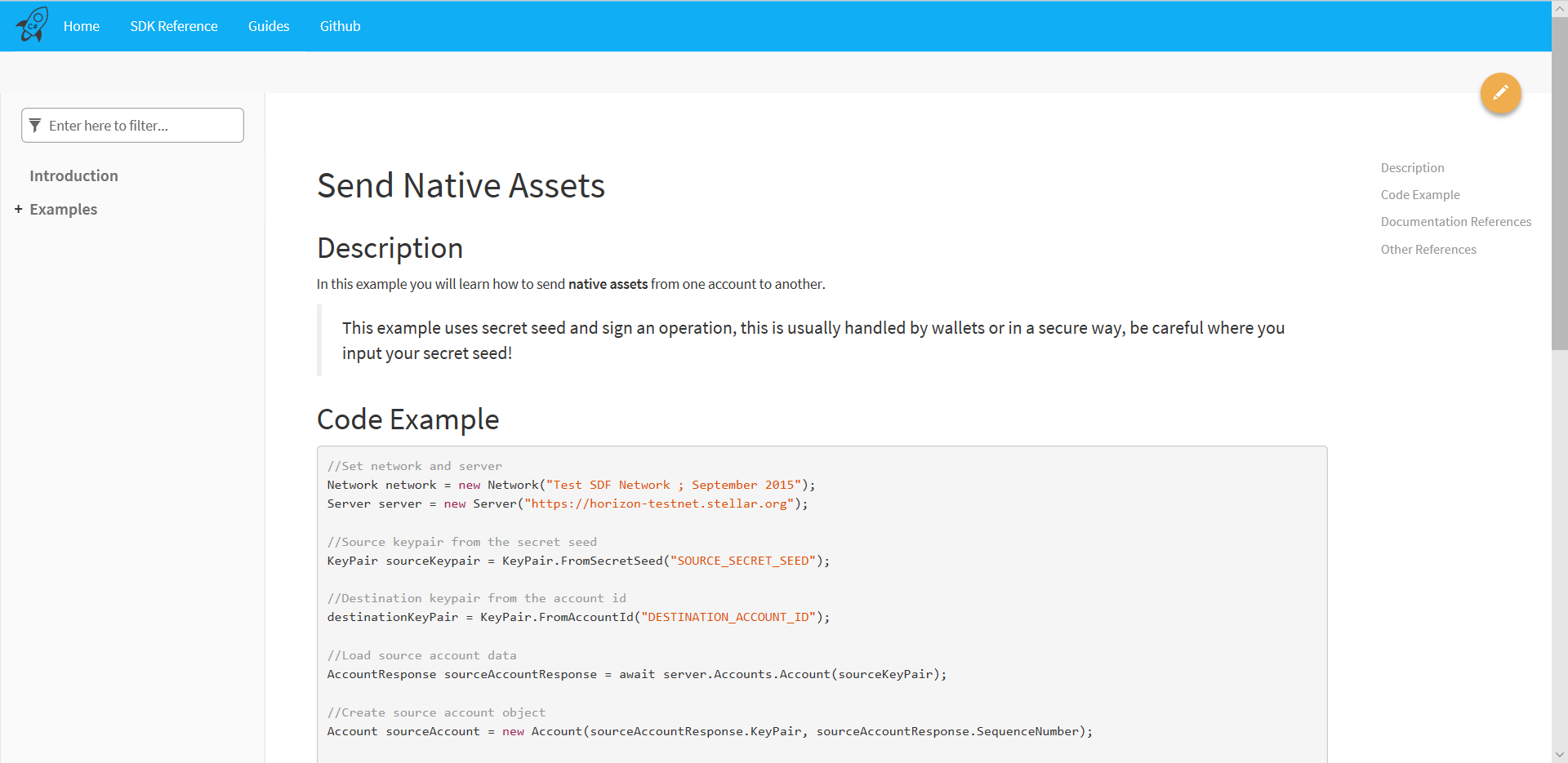 Send Native Assets