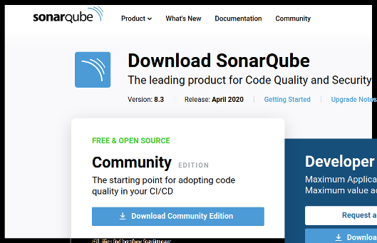 sonarqube_download_page