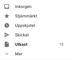 Gmail notification badges showing unread mail count from other than