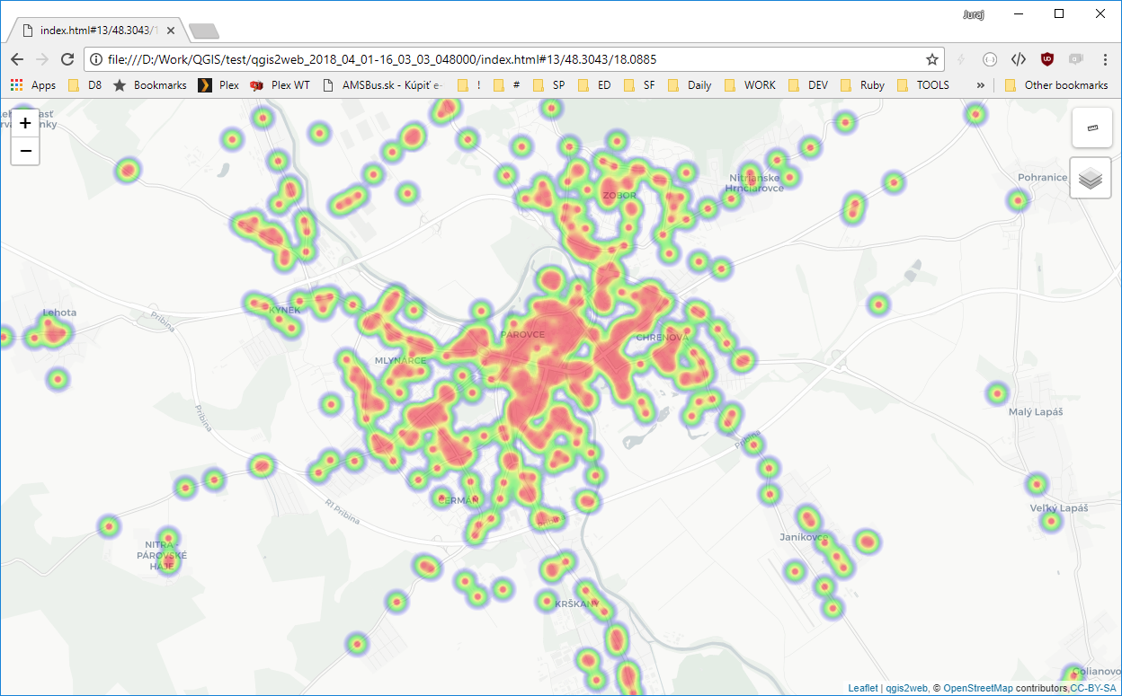 Use leaflet-heatmap instead of leaflet-heat library  · Issue #634
