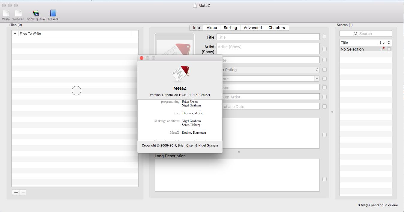 Editing metadata of MP4 files : MacOS