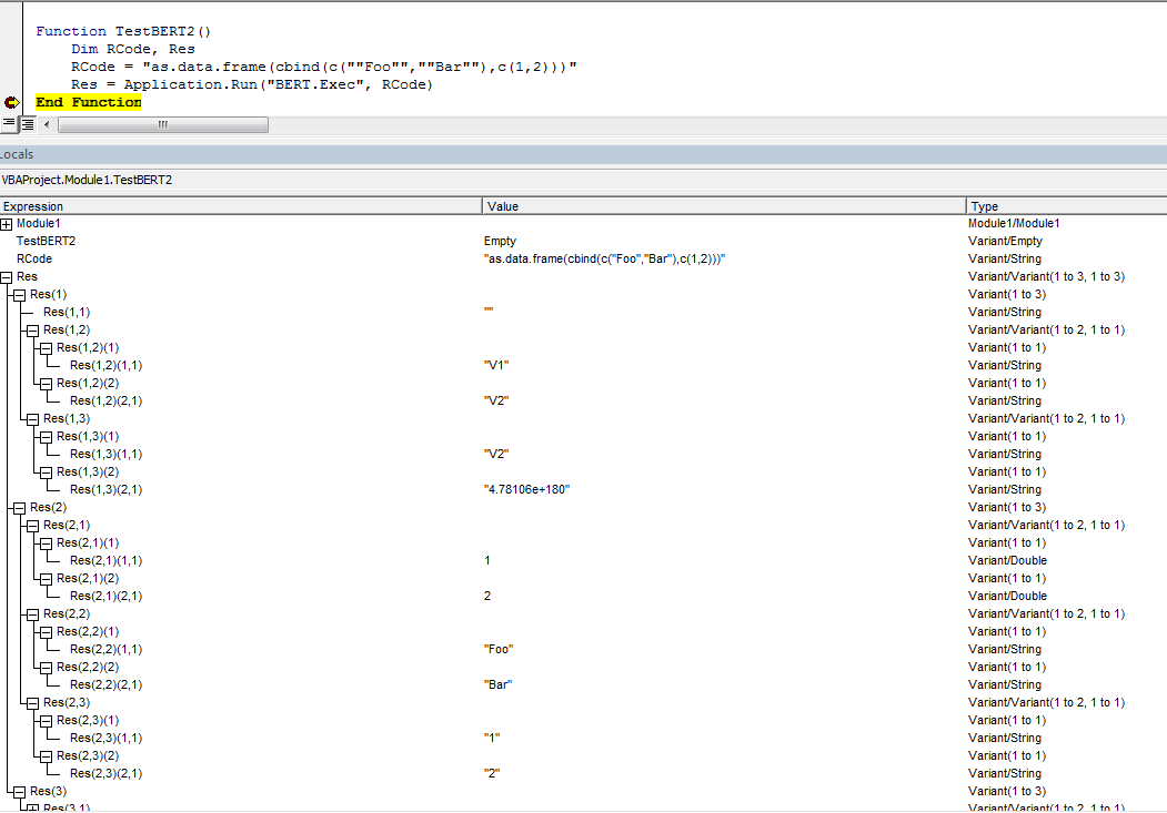 Returning dataframe with row and column names crashes Excel in BERT ...